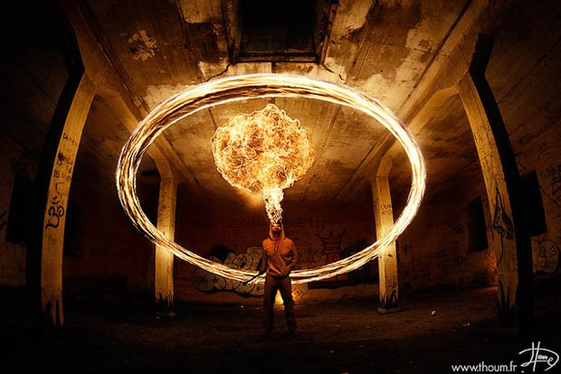 Gorgeous Photos of Flame Painting and Fire Breathing Experiments fire9