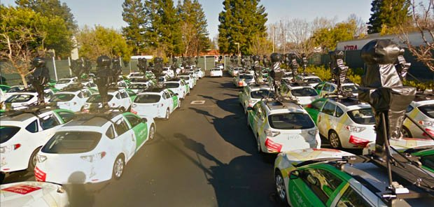 Google Maps Send To Car: A Glimpse Of Google's Fleet Of Camera-Equipped Street View