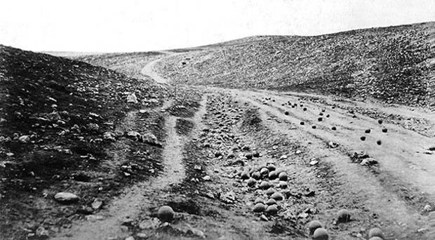 You Might Recognize The Photograph Above Titled Valley Of Shadow Death And Snapped By British Photographer Roger Fenton In 1855 Its Considered To