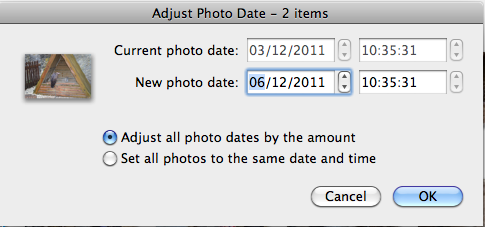 How to Shift the EXIF Timestamps for a Large Batch of Photos
