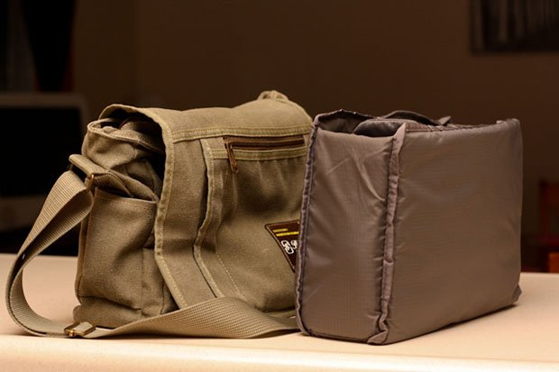 diy make a waxed canvas camera bag on the cheap