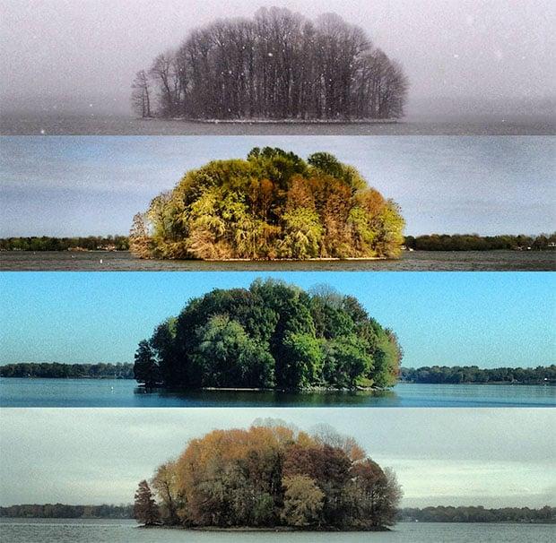 Photos of an Island Across Four Seasons