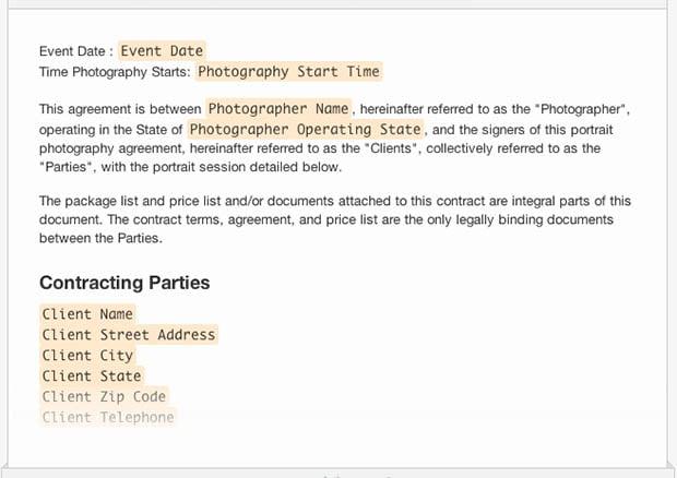Photographer Contract  CityEsporaCo