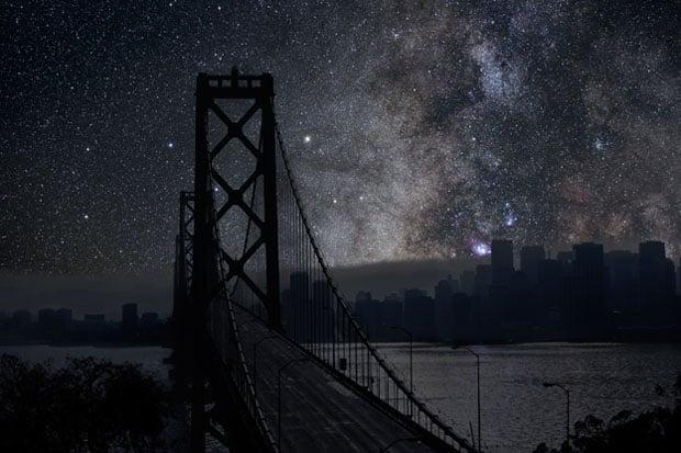 San Francisco 37° 48' 30'' N 2010-10-09 lst 20:58