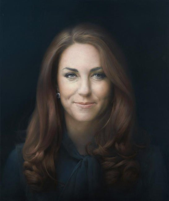 Artist: Criticized Photo Based Painting of Kate Doesnt Photograph Well kateofficialportrait 1