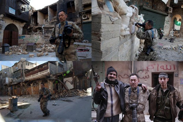 Japanese Truck Driver Photographs the Front Lines in Syria as a War Tourist tojimoto