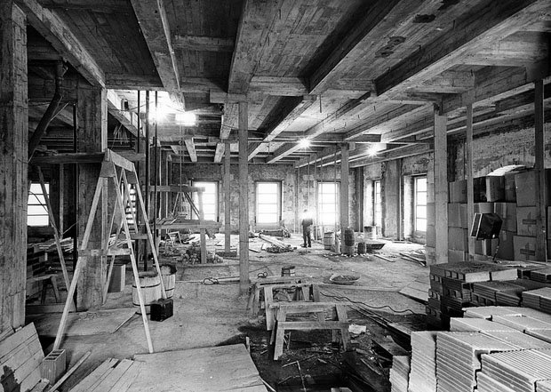 View from the Lincoln Room during the White House Renovation