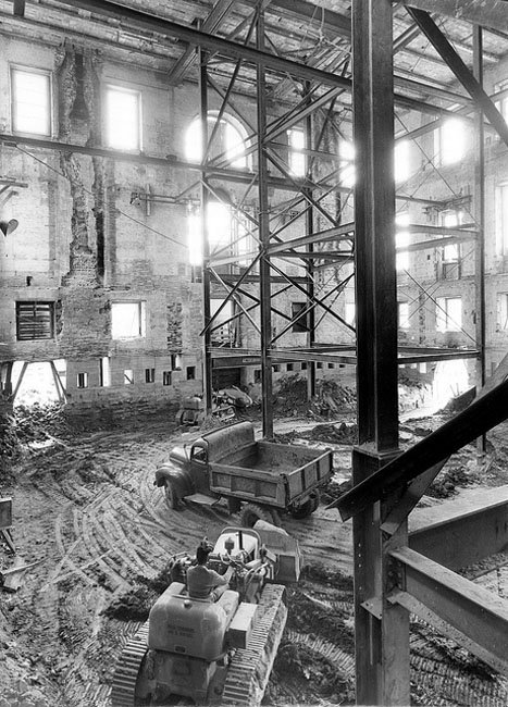 The Shell of the White House during the Renovation