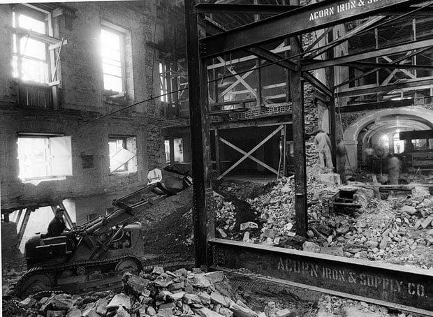 Construction Equipment inside the White House