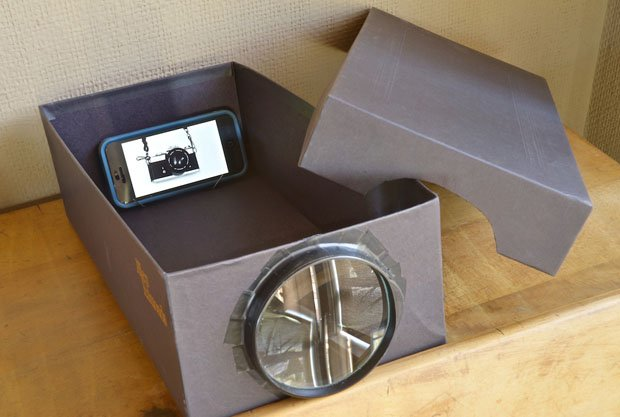 Build A Cheapo Photo Projector Using A Phone Shoebox And