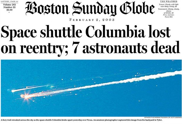 Ten Years Later: The Impact of The Tragic Columbia Space Shuttle Photo columbiadisaster