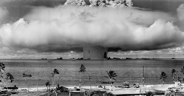 Photos from the World's First Underwater Nuclear Explosion