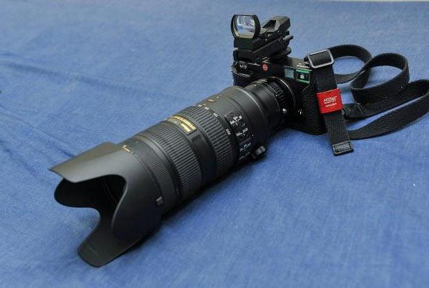 Strange: Fujifilm X-E1 'Sniper Edition' with a Tactical Red