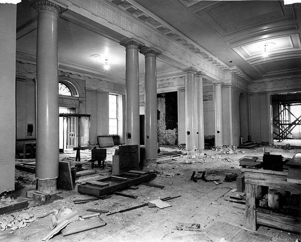 White House Lobby During the Renovation
