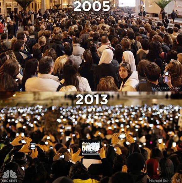 Image result for pope-against-mobile-phones