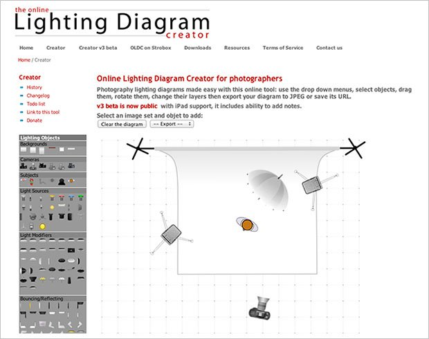 lighting diagram creator lets you easily save and share your light rh petapixel com lighting diagram app ipad iPad 2 Internal Diagram