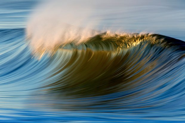 Photographs of Ocean Waves Captured With a Long Lens and Slow Shutter