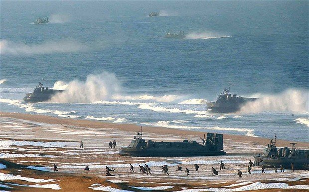 North Korea Caught Doctoring Military Exercise Photo of Hovercraft nkoreashopped