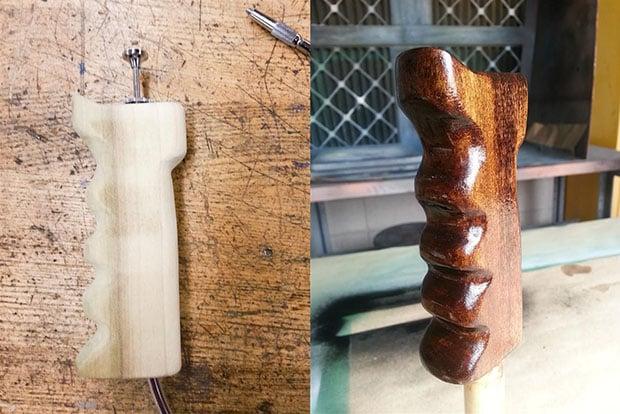 making wooden handles
