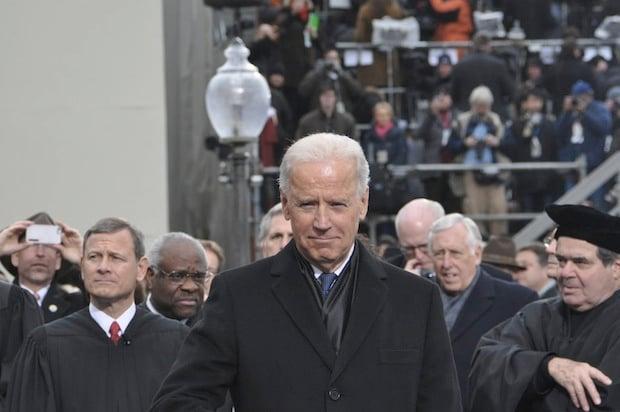 Vice President Biden on the inaugural platform.