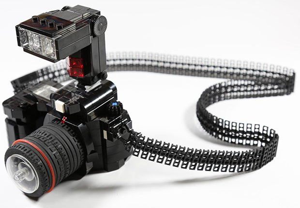 This LEGO DSLR Comes with a Flexible Strap and External Flash legoslr 1 copy