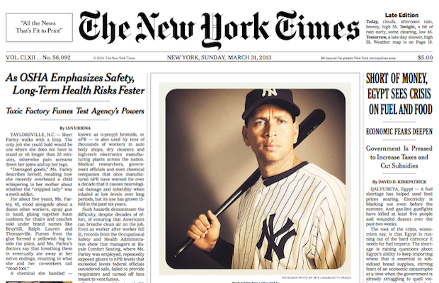 New York Times Puts Instagram Image on the Front Page