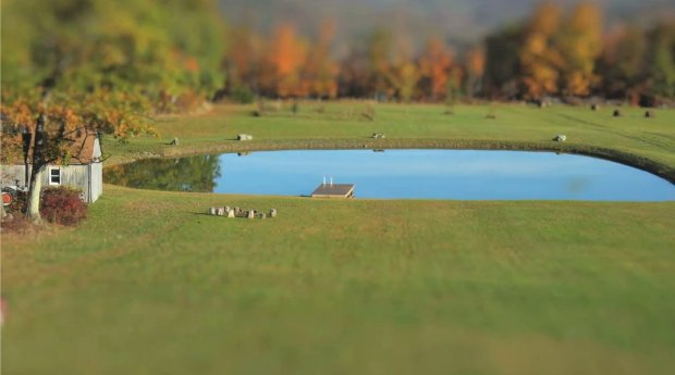 Tilt-Shift Time-Lapse Shows the Creation of a Man-Made Pond in Two Minutes