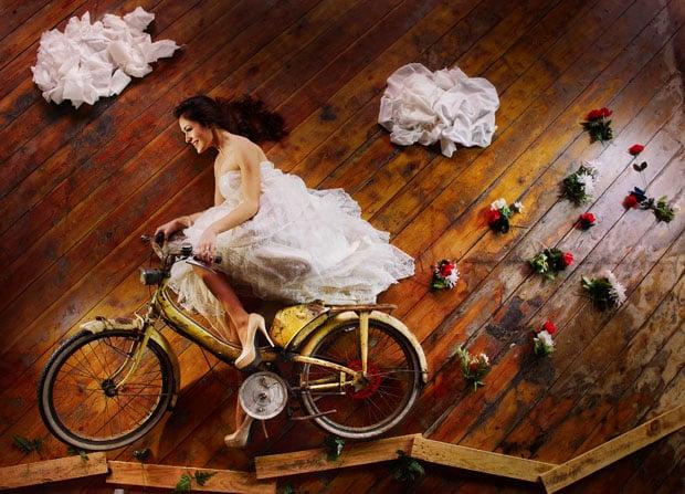 Bridal Model Receives Photos of Her Own Through a Fantasy Photo Shoot