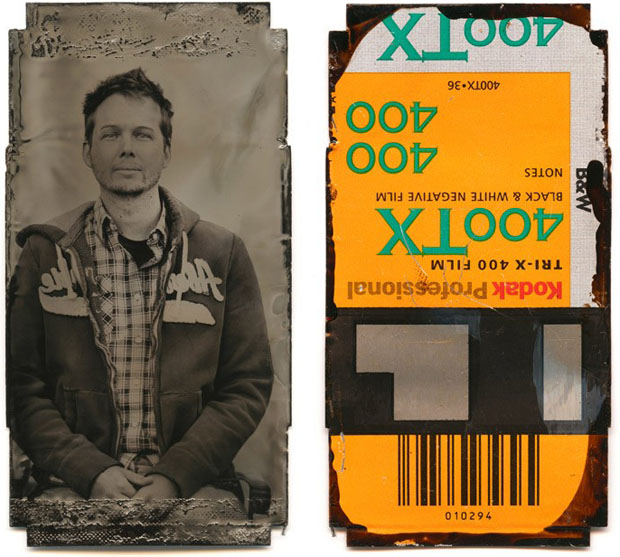 Tintype Portraits of Photography Students Created on Their Discarded Film Canisters