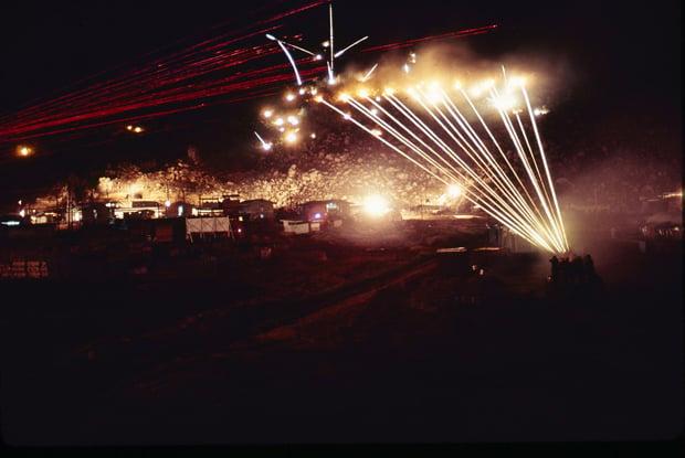 1969_0521-1970_0605__RVN__218__173rd_Abn_Bde_Comp_A_Admin_Phu_Tai__1970_0400_Night_Gunfire_Time_Exposure_620px