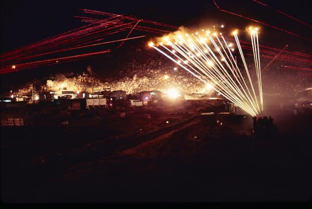 1969_0521-1970_0605__RVN__219__173rd_Abn_Bde_Comp_A_Admin_Phu_Tai__1970_0400_Night_Gunfire_Time_Exposure_620px