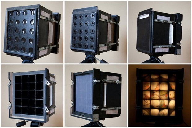 A Homemade Camera That Uses Twenty Separate Lenses