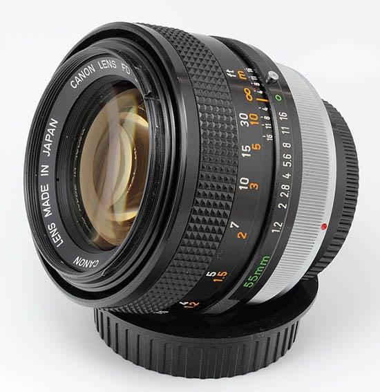 A radioactive Canon FD 55mm f/1.2 lens