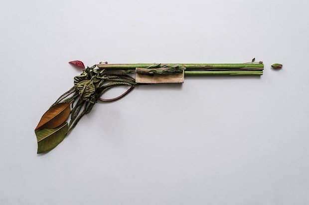 Harm Less: A Photo Series of Firearms Made Entirely out of Plants