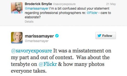 Mayer response on Twitter