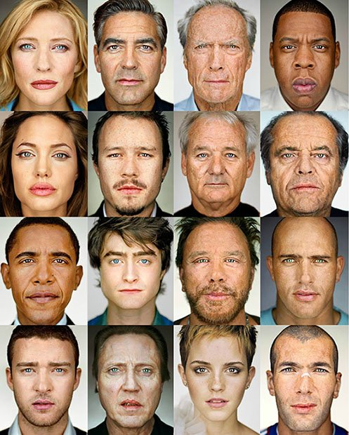 Playing Around with Average Faces Using Martin Schoeller's Celebrity Portraits