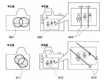 Diagrams seen in Canon's new tilt-shift gridline patent
