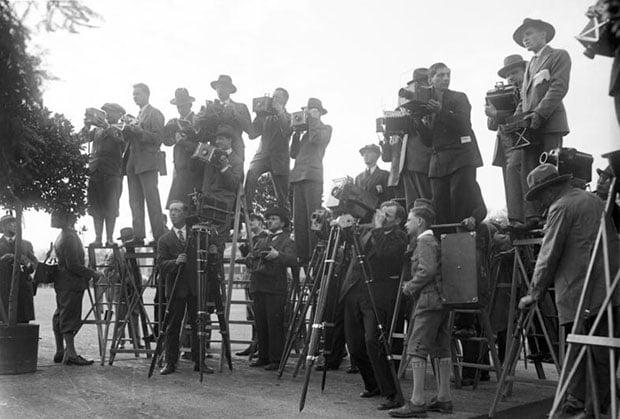 Berlin, Pressefotografen bei der Arbeit