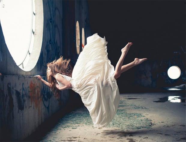 Surreal photos of women floating in zero gravity by nikolay tikhomirov