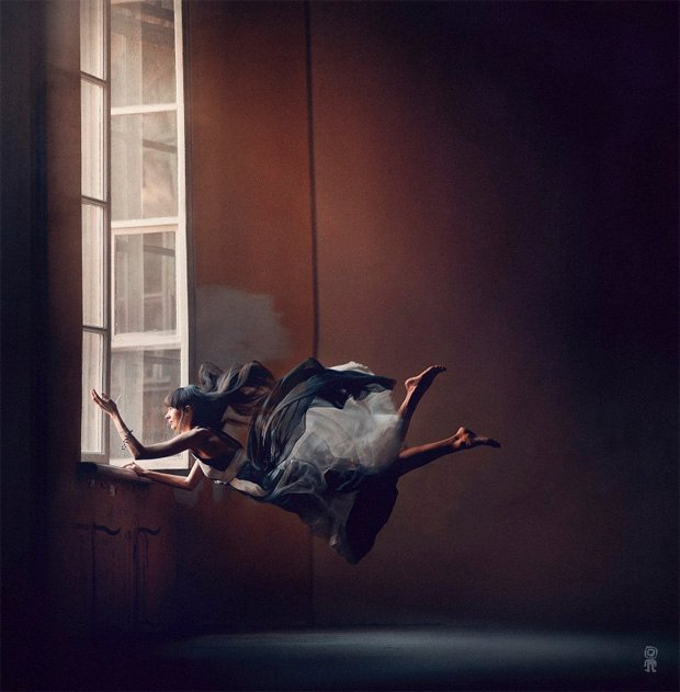 Surreal Photos of Women Floating in Zero Gravity by Nikolay Tikhomirov