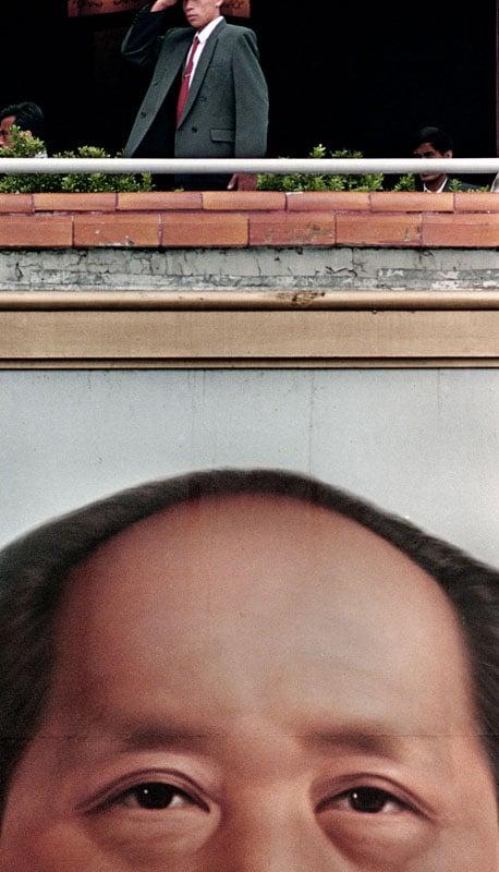 A portrait of Mao in 1990