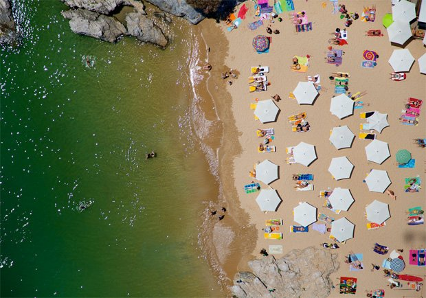 Gray Malin's Colorful Beach Bum Aerials, Shot from Doorless Helicopters