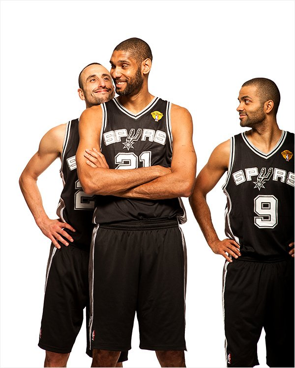 Photographing the Big Three of the San Antonio Spurs for Sports Illustrated Spurs Manu mug SEALE