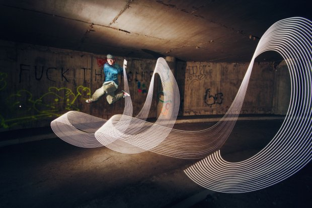 Beautiful Light Painting Photos Created With Dancers and Athletes