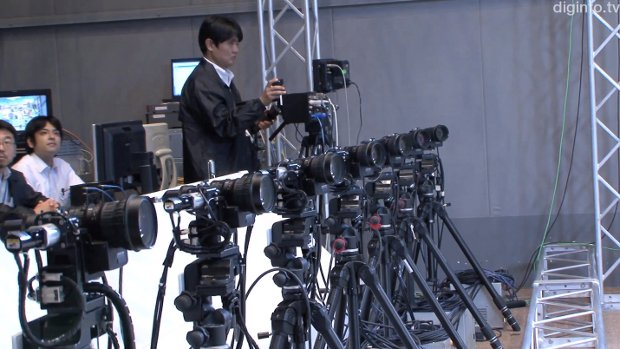 The rig developed by NHK used only 8 cameras. NBC is planning to install 24 in each end zone.