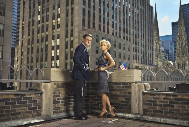 The results of Mobley's first shoot for The Hollywood Reporter, featuring Joe Scarborough and Mika Brzezinski