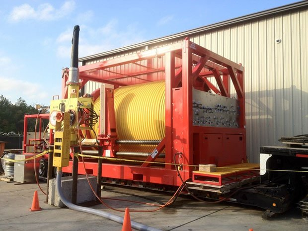 Reel, 8,800 ft umbilical, and subsea termination assembly for a deepwater well control system