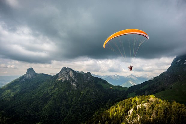 Photographer Captures Incredible Aerial Shots While Paragliding