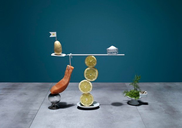 Photos of Recipe Ingredients Arranged Into Well-Balanced Meals… Literally