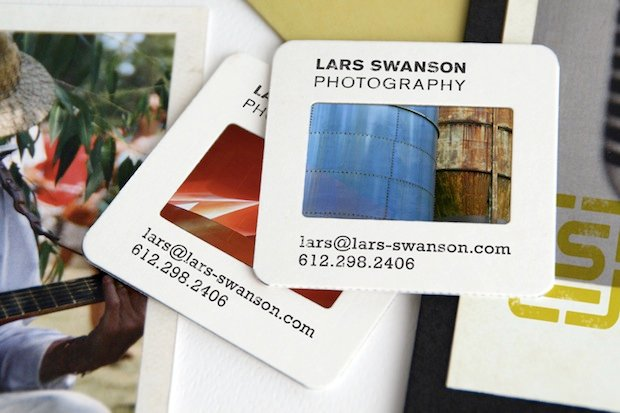Photographer's Business Cards Created Using 35mm Film Slides